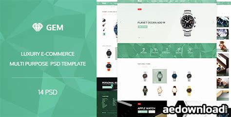 bootstrap themes gem gem luxury e commerce psd theme free download free