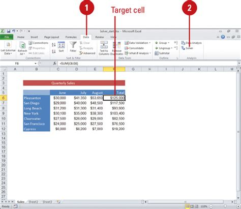 tutorial excel solver microsoft excel 2010 building more powerful worksheets