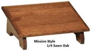 ergonomic designed slanted wood footstool foot rest