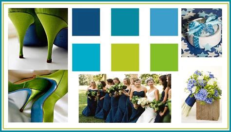 blue and green color schemes wedding favors themes etc wedding color palettes
