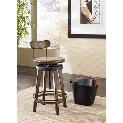 studio home adjustable stool in oak 166 948