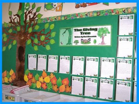 bulletin board design for home economics the giving tree lesson plans shel silverstein