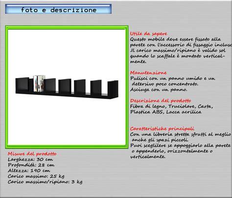 ikea lack scaffale scaffale espositore o mensola da parete 30x28x190 nero