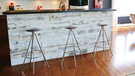 Promo Kain Panel peel and stick wood panels provide an instant reclaimed