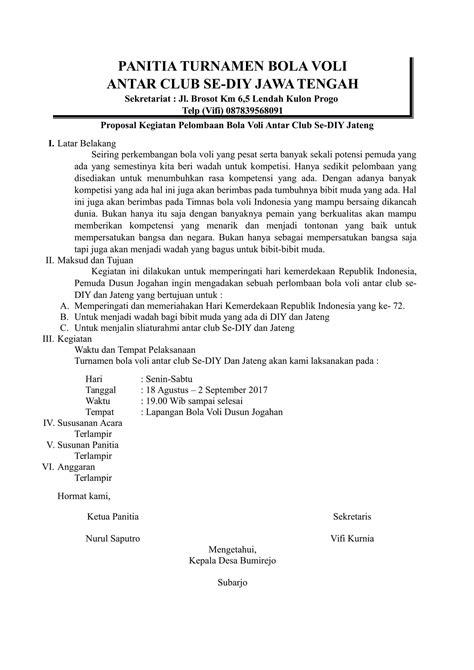 contoh proposal format contoh surat format surat surat lamaran contoh proposal