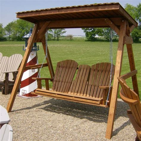 Patio Swing That Folds Jake S Amish Furniture Large A Frame Roof 5