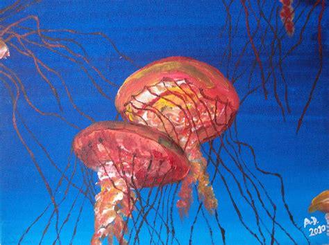 acrylic paint jellyfish acrylic goldenpear