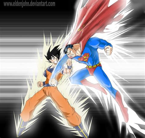 imagenes goku vs superman espacio raro julio 2011