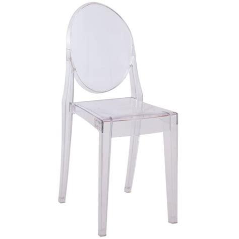 silla transparente sin brazos ghost