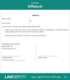 Template Of Affidavit by Affidavit Form Free General Affidavit Template Us