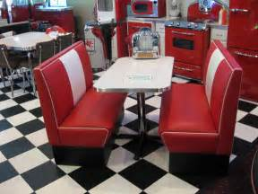 Dining Table Booth Style Chairs Black And White 50 S Diner Cruiser Diner Booth Set 50s