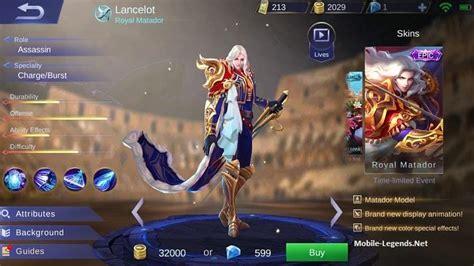 tutorial lancelot mobile legend lancelot guide build tips and tricks mobile legends