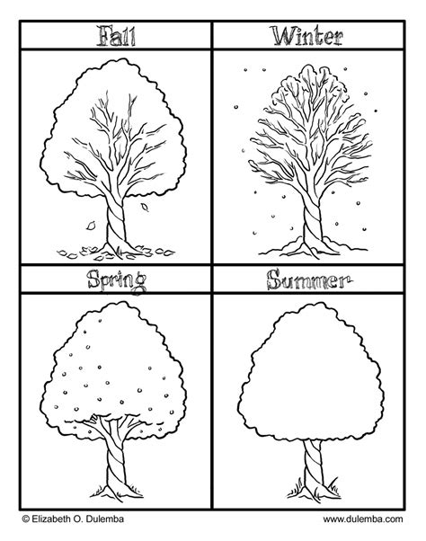 free coloring pages of seasons