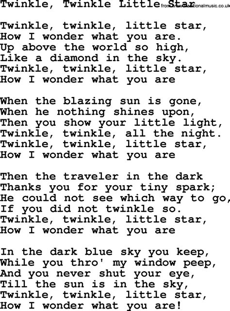all about that baby sheep stuff lyrics twinkle twinkle lyrics images cellys