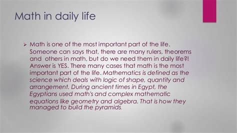 Maths In Daily Essay by Importance Of Mathematics In Everyday Essay Www Gjscomputerservices Au