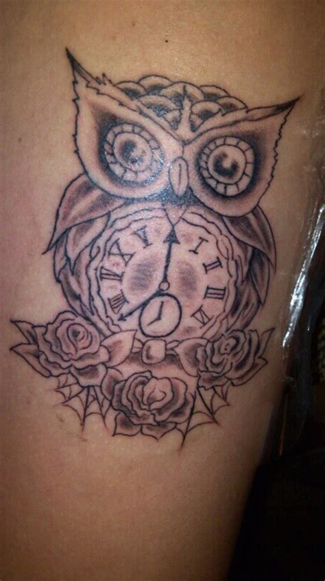 owl tattoo clock eyes owl tattoo by tattooguy097 on deviantart
