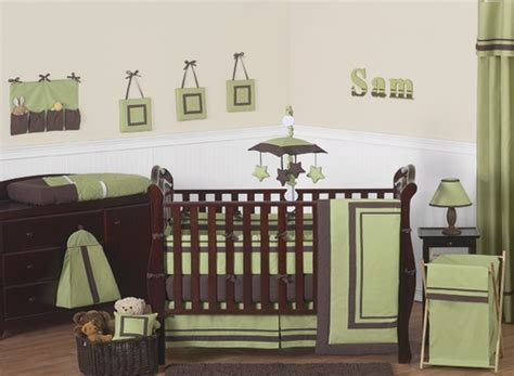 Crib Hotel by Green And Brown Hotel Modern Baby Bedding 9 Pc Crib Set