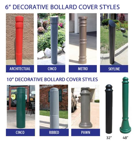 decorative bollards with chain decorative bollard sleeves