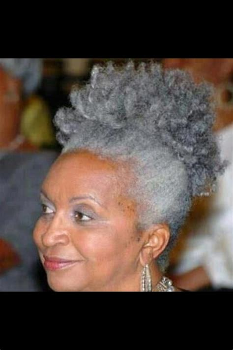 natural styles for gray hair beautiful gray natural hair happy hair pinterest