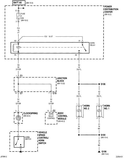1998 jeep wrangler horn wiring diagram acura tl horn