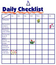 Daily cleaning checklist printable