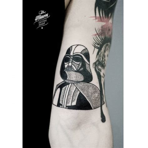 vader tattoo dotwork darth vader on arm best ideas gallery