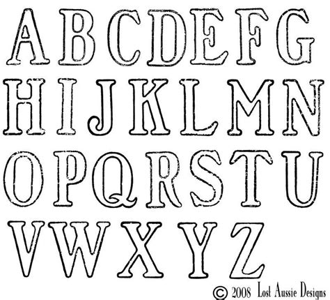 lettering template large lettering stencils free