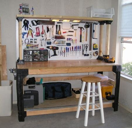 garage bench designs pdf diy garage workbench plans ideas download g plan coffee table nz woodguides
