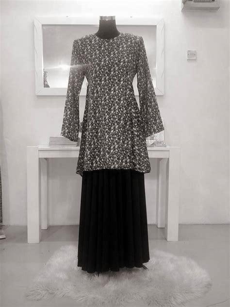 Baju Kurung Kembang Bawah kurung moden kembang guzel trend fashion