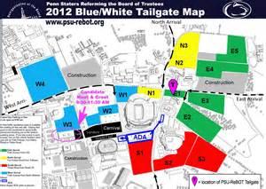 state parking map psu rebot gt blue white tailgate 2012