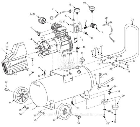 cbell hausfeld hx5100 parts diagram for air compressor parts