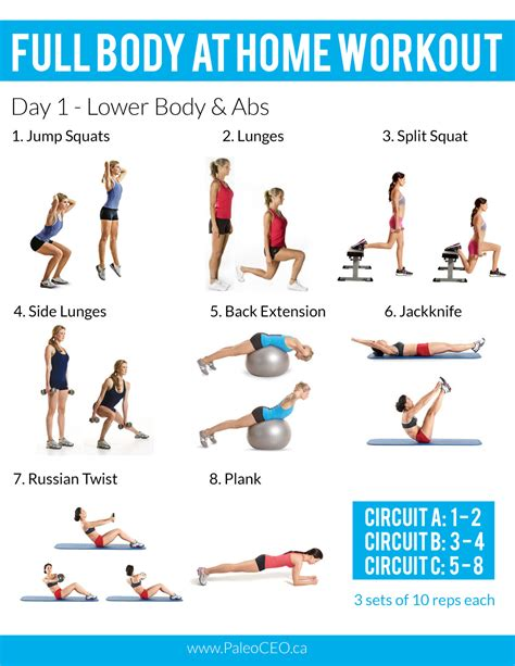 weights workout at home most popular workout