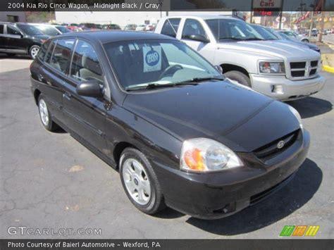 Kia Cinco 2004 Midnight Black 2004 Kia Cinco Wagon Gray Interior