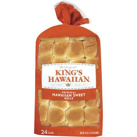buns walmart king s hawaiian the original hawaiian sweet rolls 24 oz 24ct bakery bread