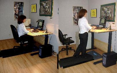 Walking Office Desk Walking At Work Treaddesk Walking Desk Popsugar Fitness