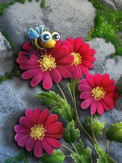 flowers  bee mobile wallpaper mobile