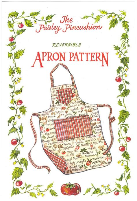 pattern apron reversible apron pattern by paisley pincushion