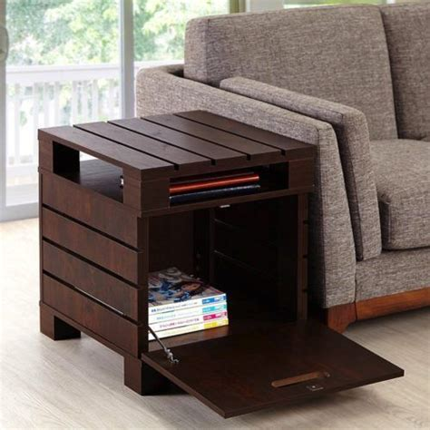 storage end tables for living room best 25 pallet end tables ideas on