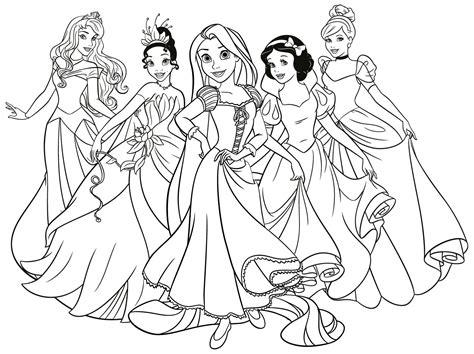 dibujos para colorear gratis de princesas dibujos de princesas disney para colorear e imprimir