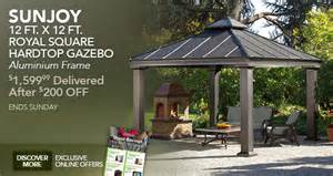 Sunjoy 13 Ft Royal Octagon Hardtop Gazebo by Royal Hardtop Gazebo Costco Submited Images