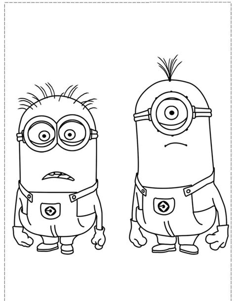 free kevin despicable coloring pages