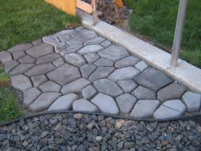 Concrete Patio Mold by Home Is Where They Love You Cobble Stone Path