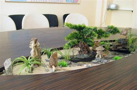 modern tables  miniature gardens  grass