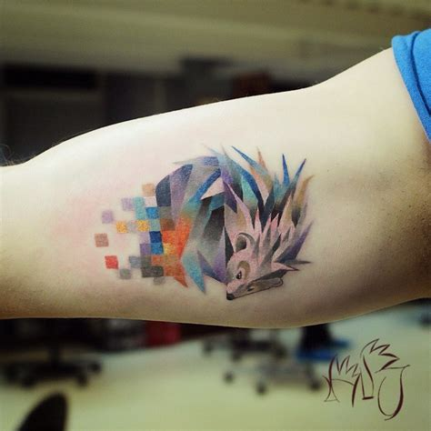 tatouage animaux et pixel de l artiste lesha lauz