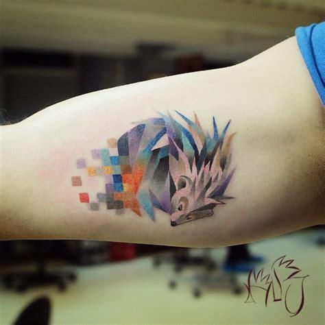 tattoo love animals tatouage animaux et pixel de l artiste lesha lauz