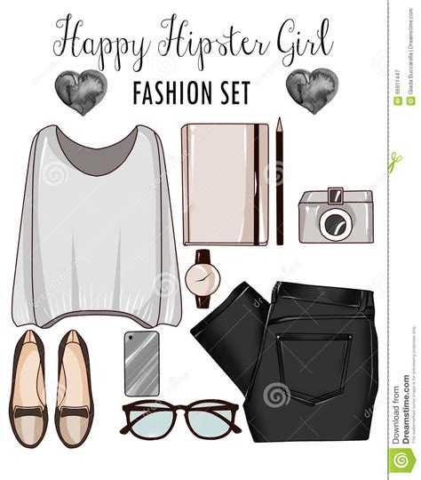 fashion illustration accessories fashion set of s clothes accessories and shoes fashion clip stock illustration