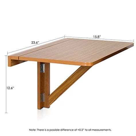 Folding Table Attached To Wall Furinno Fnaj 11019ex Wall Mounted Drop Leaf Folding Table Cherry New Free Sh Ebay