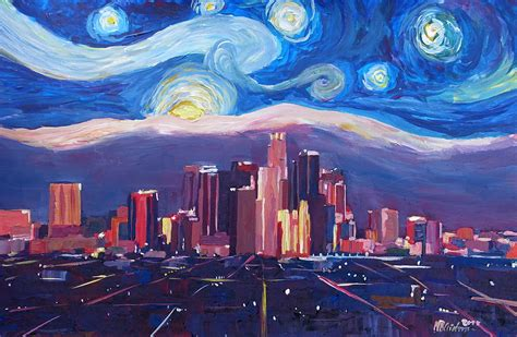 paint nite los angeles starry in los angeles gogh inspirations with