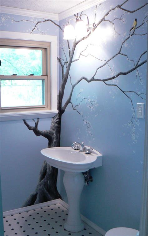 wall murals for bathrooms sweet tree mural bird bathroom decor decorations tree