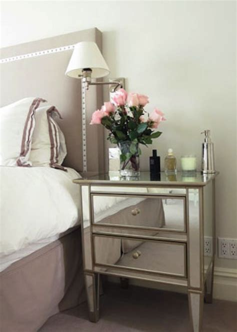 mirror side tables bedroom 25 best ideas about mirrored nightstand on pinterest